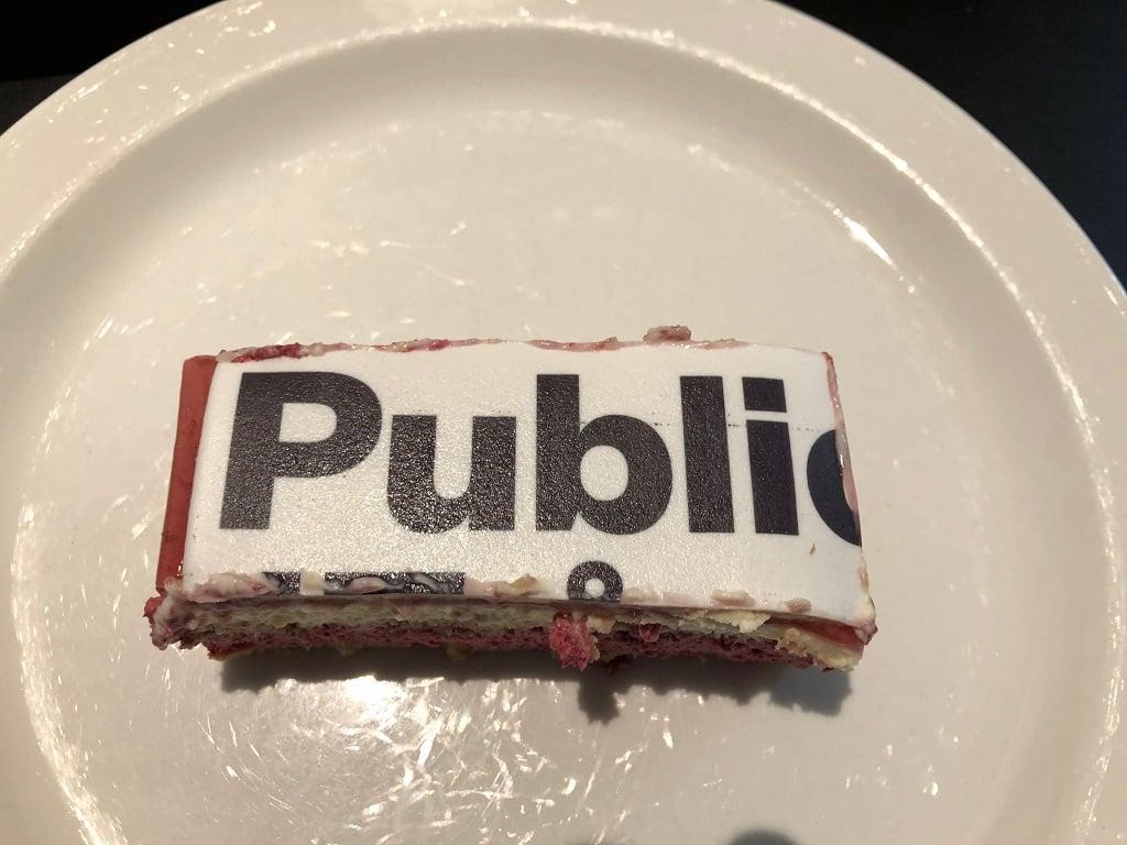 17 år med publico stykke kage