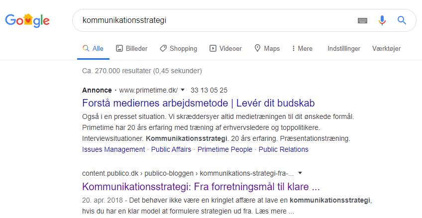 Google Ads udklip