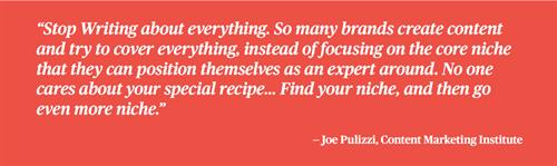 Joe Pulizzi, content marketing institute