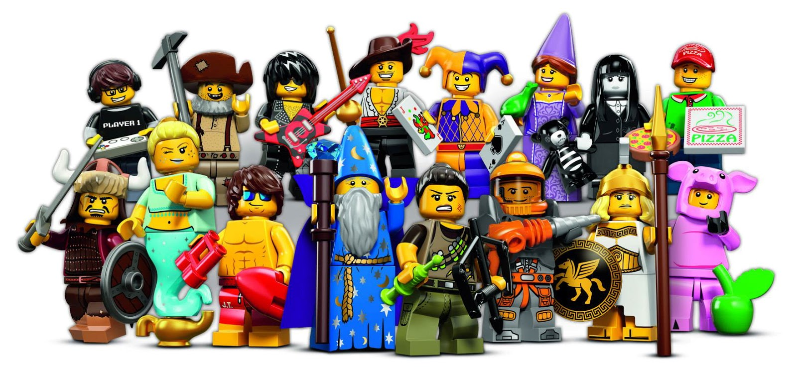 Lego Collectable Minifigures Series 12 group