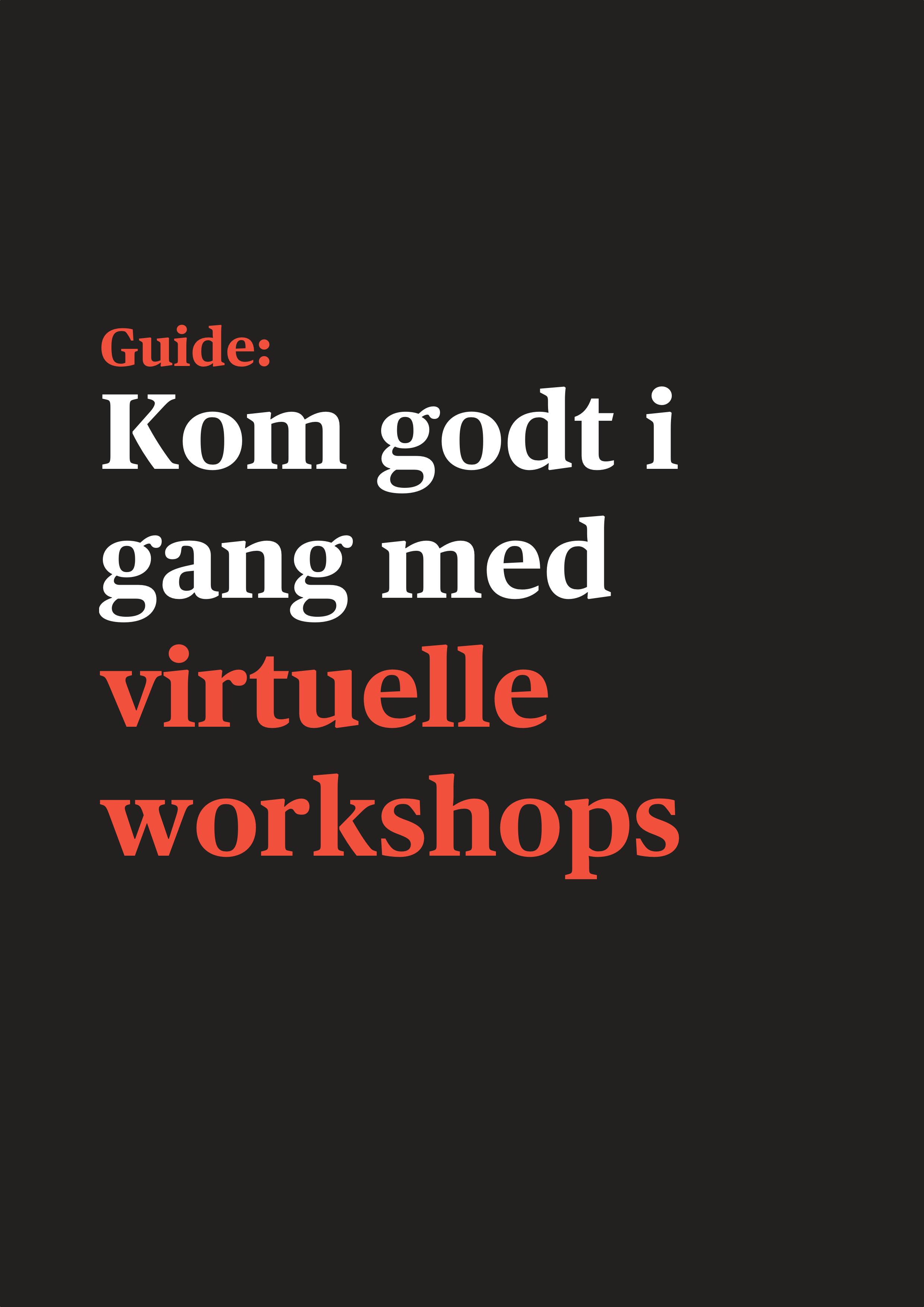Virtuelle workshops forside