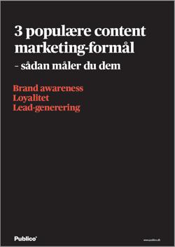 3 populære content marketing-formål