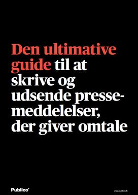 Pressemeddelelser guide