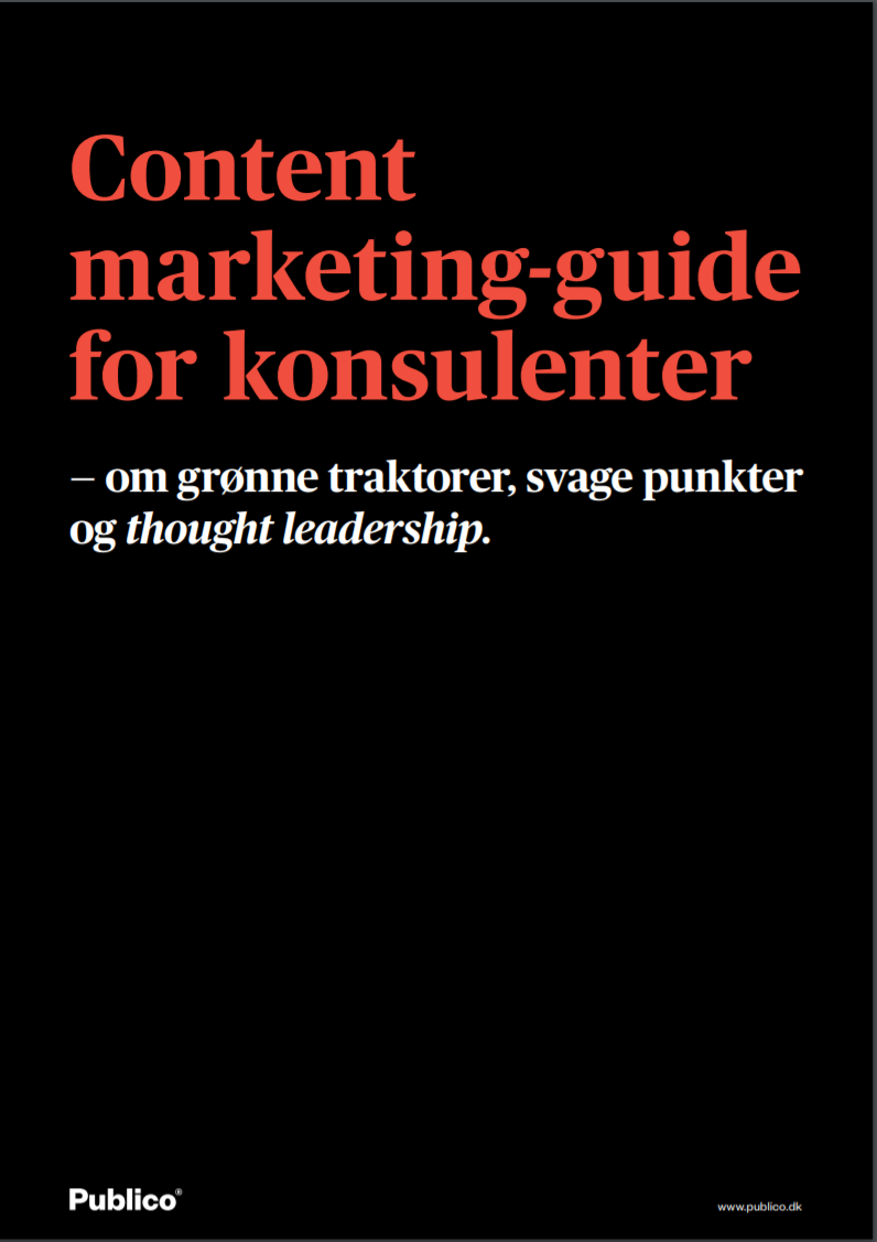 content marketing for konsulenter forside
